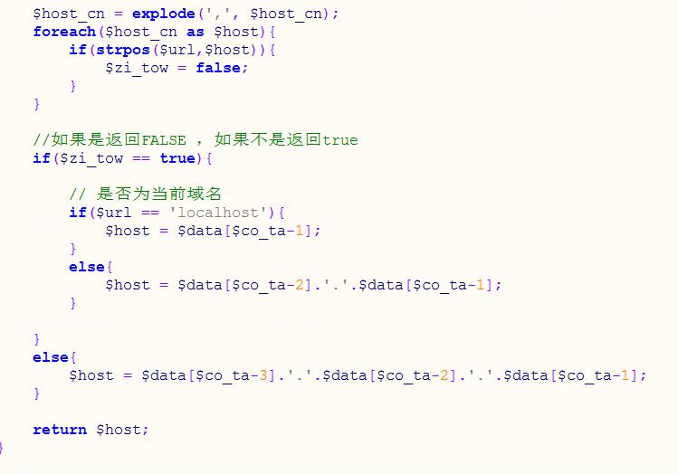 PHP 顶级域名 url